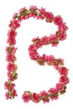Basil flower garland, bloemenstreng, 130cm, fuchsia