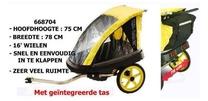 Kidcar Kar kid bikebuggy trailer voor 2 kinderen