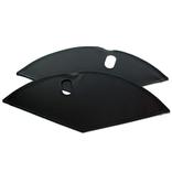 Merkloos Jasbeschermer 26 lakdoek mat zwart