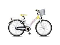 """Fiets bike fun  24"""" papillon meisjes anti mono wit/geel E24PP80"""