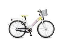 """Fiets bike fun  26"""" papillon meisjes  3v anti mono wit/geel E26PP85"""