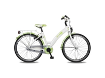 "Fiets bike fun 20"" girls fun meisjes mono wit/groen E20MW170"