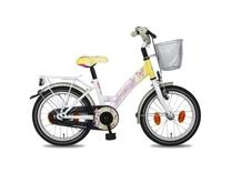 """Fiets bike fun  16"""" papillon meisjes anti mono wit/geel E16PP80"""
