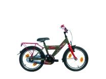 """Fiets bike fun  18"""" Boys cars jongens rood/antra groen 18CARS20"""