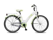 """Fiets bike fun  26"""" girls fun meisjes mono wit/groen E26MW170"""