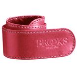 Brooks broekklem leer roze, met doosje