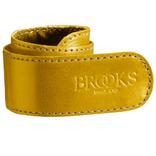 Brooks broekklem leer oker geel, met doosje