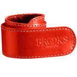 Brooks broekklem leer rood, met doosje
