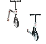 LOOPFIETS EN STEP IN 1 WIT/ROOD