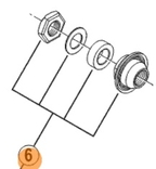 Shimano Sluitmoer unit links model: 2010 groep: non-series wh-mt15-r 6-bolt