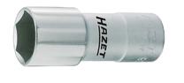 HAZET bougiestekker-inzet 1/2, Chroom Vanadium, gepolijst, lange versie met