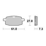 Remblokken Set Peugeot V-Clic Yamaha Axis