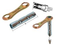 Bougiesleutel verstelbaar 16mm en 21mm 4-takt buzzetti 4854