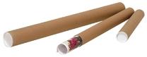 Verzendkoker rond bruin 60 x 610 - 630 mm (24 stuks)