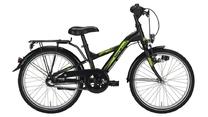 Kinderfiets Noxon Sporty 20 Inch 3-speed Remnaaf Zwart Mat