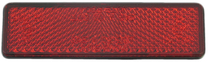 Reflector universeel rechthoekig rood 91x25mm