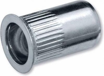 Blindklinkmoer 1742R aluminium M4 met draad