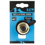 Fietsbel mini M-Wave Bella Ding-Dong - goud messing