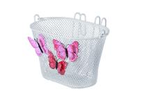 Kinderfietsmand Basil Jasmin Butterfly 28 x 20 x 19 cm - wit