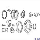 Shimano Onderdelenkit alfine s500 model: nvt 8-speed voor sg-8r31/8r36/8c31