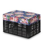 Basil Kratd bas afdekhoes blossom roses blauw 50l