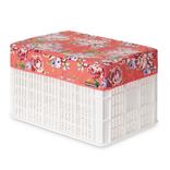 Basil Kratd bas afdekhoes blossom roses koraal 50l