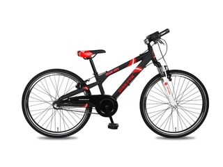 "Fiets bike fun  24"" Crash Bike mat zwart 3v 24CB70"